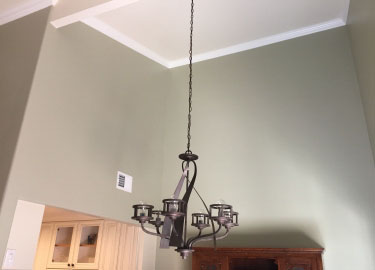 Crown Moulding, new paint new light fixture
